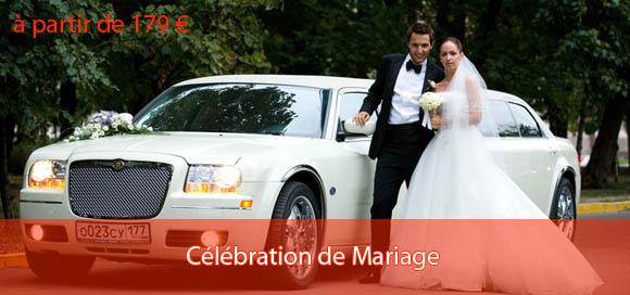 Location de limousine pour célébration de mariage